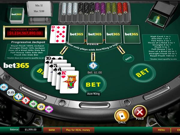 bet365 caribbean poker