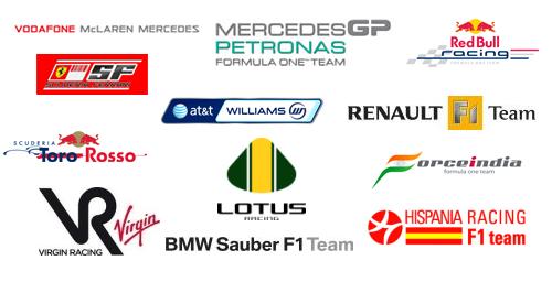 Formula 1 Team Logos