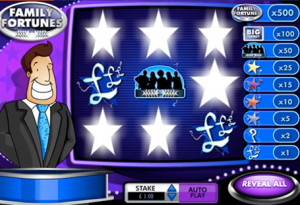 Family Fortunes scratchcard