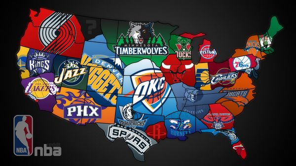 NBA Teams by State