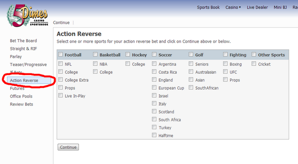 action reverse bet
