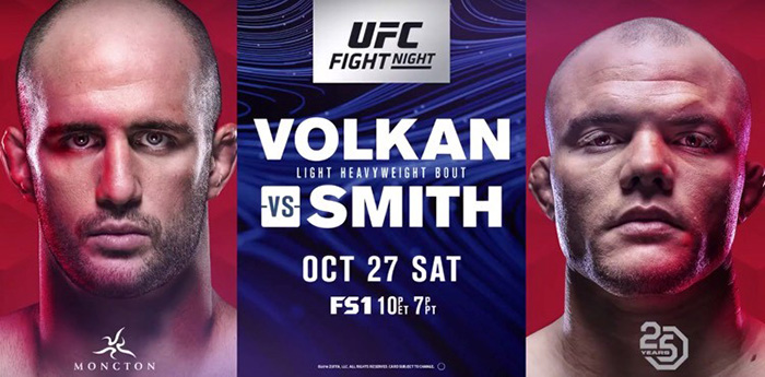 UFC Fight Night 138 Volkan Oezdemir vs. Anthony Smith