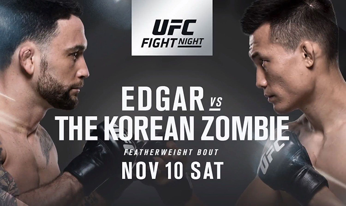 "UFC Fight Night 139 ""The Korean Zombie"" vs. Yair Rodriguez"